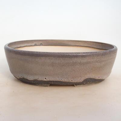 Bonsai-Schale 25 x 19,5 x 7,5 cm, grau-beige Farbe - 1