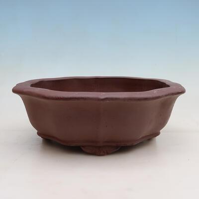 Bonsai-Schale 22,5 x 17 x 7 cm, grau-beige Farbe - 1