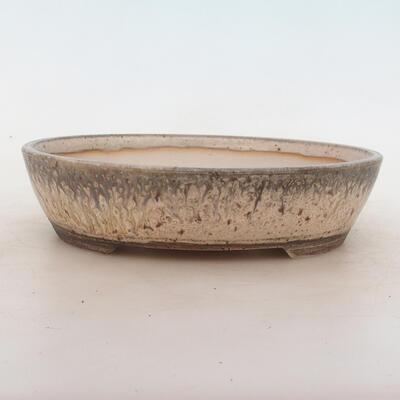 Bonsai-Schale 22 x 18 x 5,5 cm, grau-beige Farbe - 1
