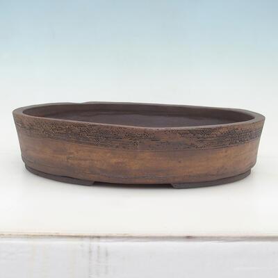 Bonsai-Schale 20 x 15 x 6 cm, grau-beige Farbe - 1