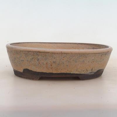 Bonsai-Schale 19,5 x 15,5 x 5 cm, grau-beige Farbe - 1