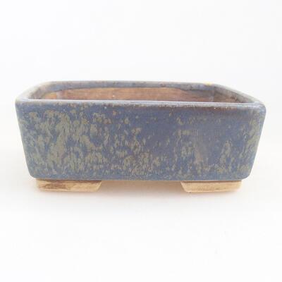 Keramische Bonsai-Schale 9,5 x 8 x 3,5 cm, Farbe blau - 1