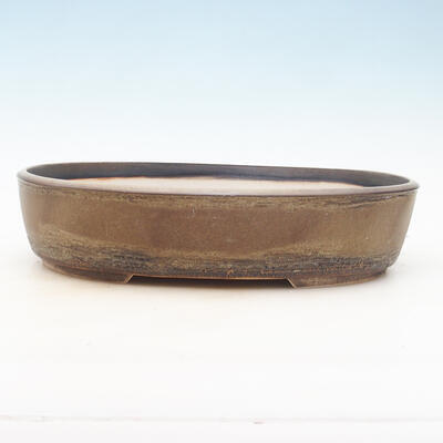 Bonsai-Schale 35,5 x 27,5 x 8 cm, braune Farbe - 1