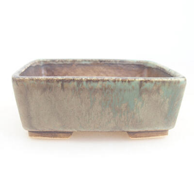 Keramische Bonsai-Schale 9,5 x 8 x 3,5 cm, Farbe grün - 1