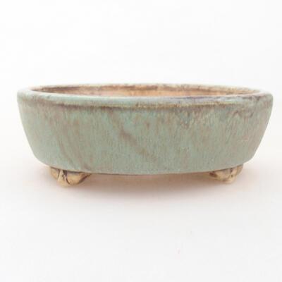 Keramische Bonsai-Schale 12 x 9,5 x 3,5 cm, Farbe grün - 1