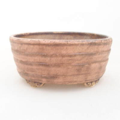 Keramische Bonsai-Schale 10,5 x 9 x 4,5 cm, Farbe rosa - 1