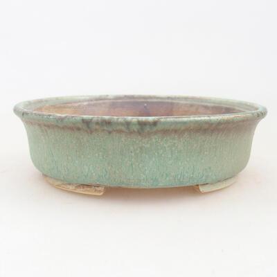 Keramische Bonsai-Schale 12 x 11 x 3 cm, Farbe grün - 1
