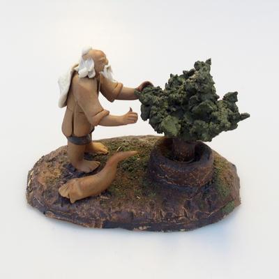 Keramik-Figur - Bonsaijista - 1