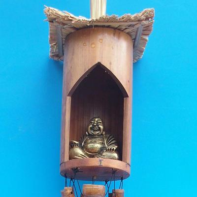 Bambus Windspiele Budha 120 cm - 1