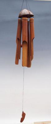Bambus Windspiele dunkel 110 cm