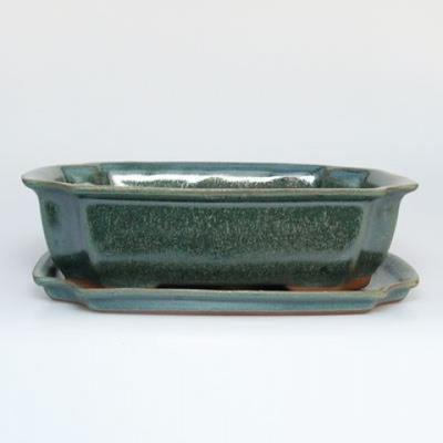 Bonsai Schüssel Tablett H03 - 16,5 x 11,5 x 5 cm, Tablett 16,5 x 11,5 x 1 cm - 1
