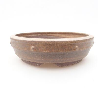 Keramische Bonsai-Schale 17,5 x 17,5 x 5 cm, braune Farbe - 1