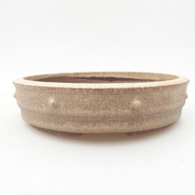 Bonsai-Keramikschale 18 x 18 x 4,5 cm, beige Farbe - 1