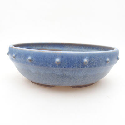 Keramische Bonsai-Schale 22 x 22 x 7 cm, Farbe blau - 1