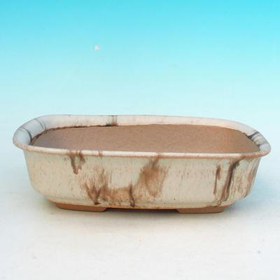 Bonsaischale aus Keramik H 02 - 19 x 13,5 x 5 cm - 1