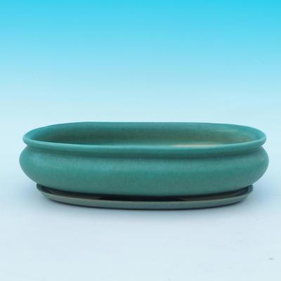 Bonsai Schüssel Tablett H15 - Schüssel 26,5 x 17 x 6 cm, Tablett 24,5 x 15 x 1,5 cm - 1