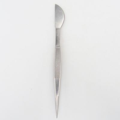 Spachtel und Pinzette 22 cm - Edelstahl - 1