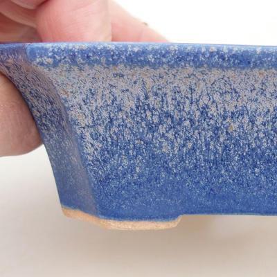 Keramische Bonsai-Schale 13 x 10,5 x 4 cm, Farbe blau - 2