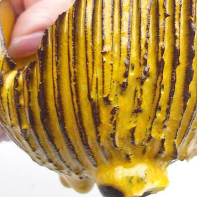 Keramikschale 7 x 7 x 7 cm, gelbe Farbe - 2