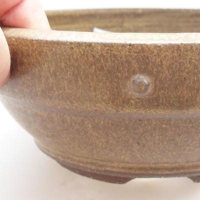 Keramische Bonsai-Schale - 19 x 19 x 7 cm, Farbe gelb - 2