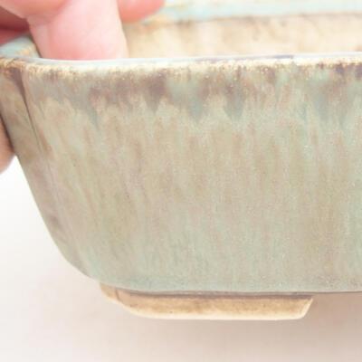 Keramische Bonsai-Schale 17,5 x 14,5 x 5 cm, Farbe grün - 2