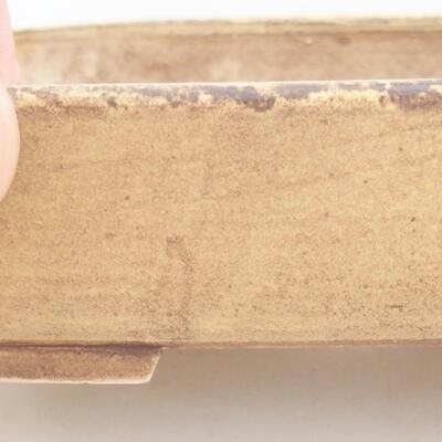 Keramische Bonsai-Schale 17 x 14 x 4,5 cm, Farbe gelb - 2