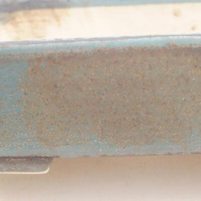 Keramische Bonsai-Schale 17 x 14 x 4,5 cm, Farbe blau - 2
