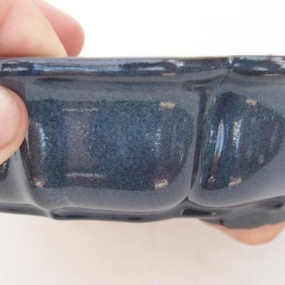 Keramische Bonsai-Schale 18 x 18 x 5 cm, braun-blaue Farbe - 2