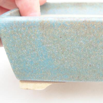 Keramische Bonsai-Schale 14,5 x 11,5 x 4,5 cm, Farbe grün - 2