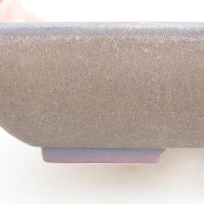 Keramische Bonsai-Schale 20 x 15,5 x 5 cm, braune Farbe - 2