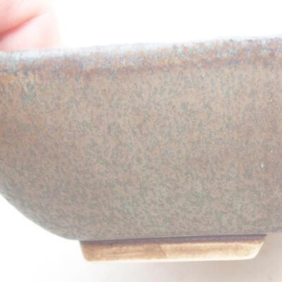 Keramische Bonsai-Schale 20 x 15,5 x 5 cm, Farbe blau - 2