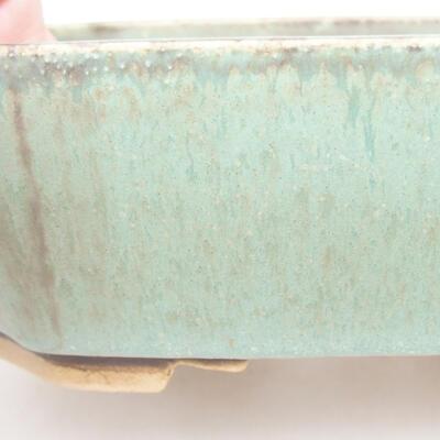 Keramische Bonsai-Schale 16,5 x 14 x 5,5 cm, Farbe grün - 2