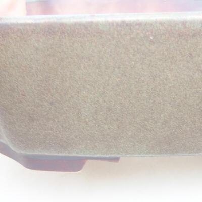 Keramische Bonsai-Schale 16,5 x 14 x 5,5 cm, graue Farbe - 2