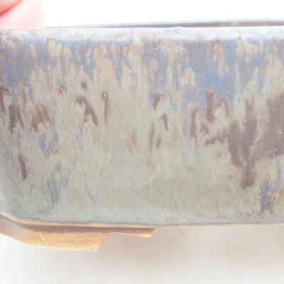 Keramische Bonsai-Schale 16,5 x 14 x 5,5 cm, Farbe blau - 2