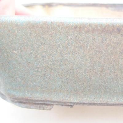 Keramische Bonsai-Schale 21 x 17,5 x 5,5 cm, Farbe blau-braun - 2