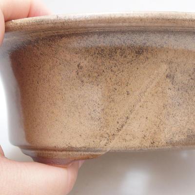 Keramische Bonsai-Schale 19 x 15 x 6 cm, Farbe braun - 2
