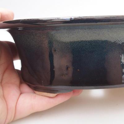 Keramische Bonsai-Schale 19 x 15 x 6 cm, Farbe schwarz - 2