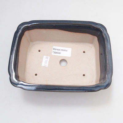 Keramische Bonsai-Schale 17,5 x 13 x 6 cm, hellblaue Farbe - 2