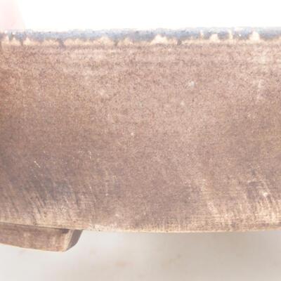Keramische Bonsai-Schale 22,5 x 20 x 5 cm, braune Farbe - 2