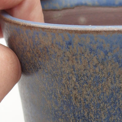 Keramische Bonsai-Schale 10 x 10 x 13,5 cm, Farbe blau - 2