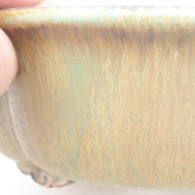 Keramische Bonsai-Schale 18 x 16 x 6 cm, Farbe grün - 2