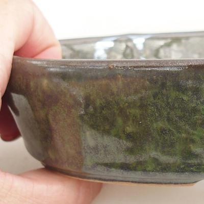 Bonsai-Keramikschale 14,5 x 9 x 3,5 cm, Farbe grün - 2