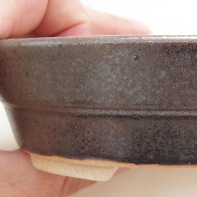 Bonsai-Keramikschale 13 x 10 x 3,5 cm, Metallfarbe - 2