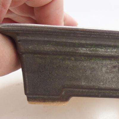 Keramische Bonsai-Schale 11 x 8,5 x 4 cm, Farbe grün - 2