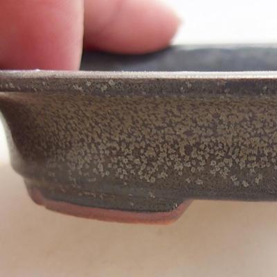 Keramische Bonsai-Schale 12 x 10 x 2,5 cm, graue Farbe - 2