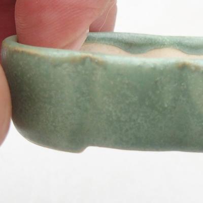 Mini-Bonsai-Schüssel 5,5 x 3,5 x 1,5 cm, Farbe grün - 2