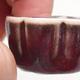 Mini Bonsai Schüssel 3,5 x 3,5 x 2 cm, Farbe rot - 2/3
