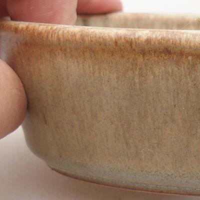 Keramische Bonsai-Schale 14 x 9,5 x 4 cm, beige Farbe - 2