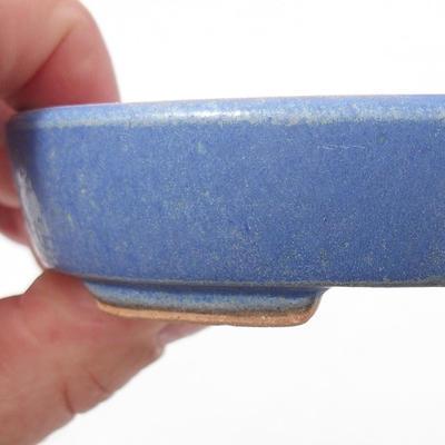 Keramische Bonsai-Schale 11 x 9 x 2,5 cm, Farbe blau - 2