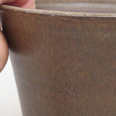 Keramische Bonsai-Schale 12,5 x 12,5 x 11 cm, braune Farbe - 2